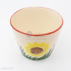 Sunflower ceramics garden flower pot