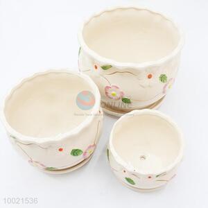 Wholesale 3pcs ceramics garden flower pot set