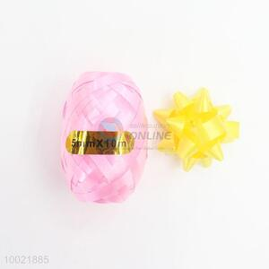 Top Sale Holiday Gift PET/PP Pure Color Pull Flower Ribbon 6 Ribbons and 2 Eggs