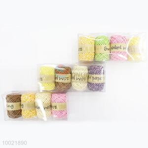 New Arrival Pure Color Paper String 4 Pieces a PVC Box