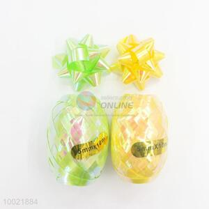 Top Sale Holiday Gift PET/PP Rainbow Pull Flower Ribbon 6 Ribbons and 2 Eggs