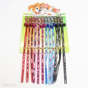 Four Color Dog Collar with Small Bell
