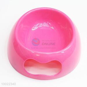 Rose Red Portable Round Pet Bowl/Feeder Bowl