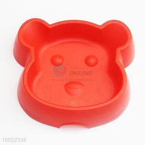 Lovely Red Dog Shaped Pet Bowl/Feeder Bowl