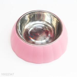Pink Stainless Steel Pet Bowl/Feeder Bowl