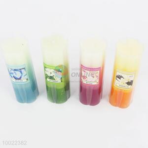 Lovely 4 colors flower fragrance candle
