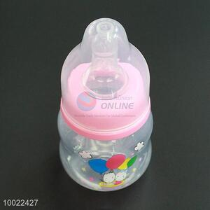 60ml l Cute Pink Feeding-bottle with  Rabbits and Balloons Pattern, Milk Baby Feeding Silicone Nipple PP Bottle