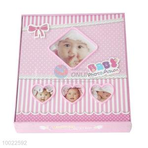 Streak Pattern Pink Lovely Baby Cover Baby/Wedding Photo Album