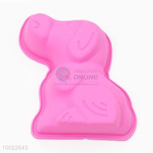 Wholesale Pink Dog Silicone Cookies/Cake Mould