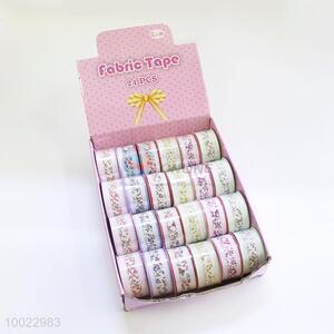White Edge Printing Fabric Tape/Craft Ribbon