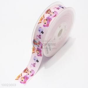 Hot Sale High Quality 2.2CM Colorful Little Girl Print Ribbon