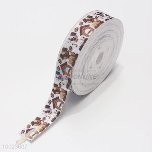 New Arrival Hot Sale High Quality 2.2CM Brown Dogs Pattern Print Ribbon