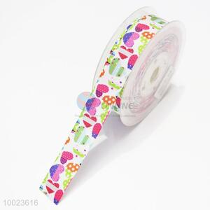 New Arrival Hot Sale High Quality 2.2CM Colorful Hearts Pattern Print Ribbon