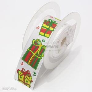 Hot Sale High Quality 3.8CM Christmas Gift Print Ribbon