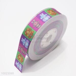 New Arrival Hot Sale High Quality 2.5CM Colorful Animals Pattern Print Ribbon