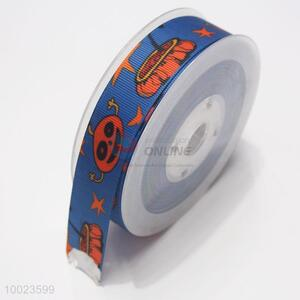 New Arrival Hot Sale High Quality 2.2CM Halloween Pattern Print Ribbon