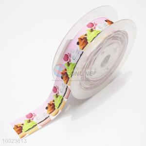 Hot Sale High Quality 2.2CM Colorful Cup Cakes Pattern Print Ribbon