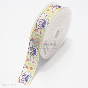 New Arrival Hot Sale High Quality 2.2CM Dog Pattern Print Ribbon