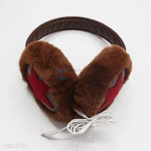 Brown plush  star earmuff/headphone