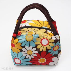 Flower Pattern Square Lunch Bag