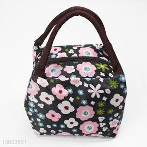 Floral Printing Square Lunch Bag