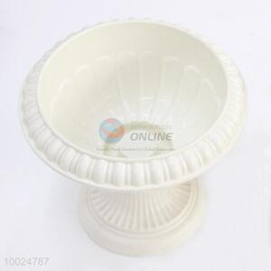 14*16cm White Plastic Flowerpot for Home Decoration