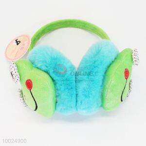Green Frog Face Cute Winter Warm Plush Earmuffs