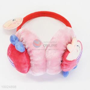 Cartoon Pink Thicken Warm Plush Ear Protection Earmuff