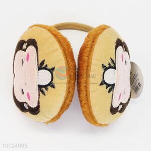 New girls winter fashion monkey pattern earmuffs