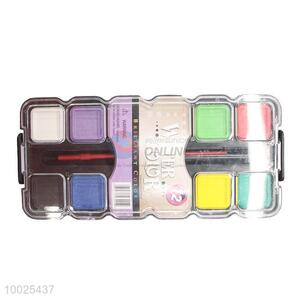 High Quality 14 Color Watercolor Paint Set with Brush