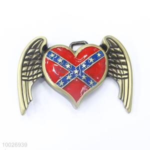 Heart shape zinc alloy belt buckle