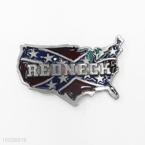 America map shaped zinc alloy belt buckle