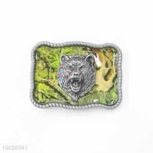 Camouflage tiger head zinc alloy belt buckle