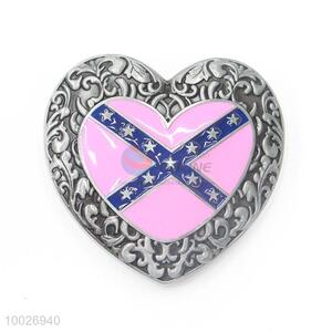 Heart shape zinc alloy belt buckle