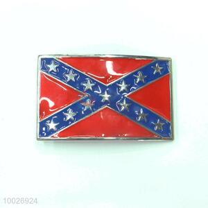 Union flag red-blue star belt buckle