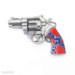 Gun shape zinc alloy belt buckle