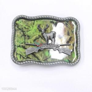 Camouflage deer zinc alloy belt buckle