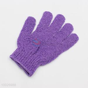 Wholesale Purple Shower Wash Bath Gloves