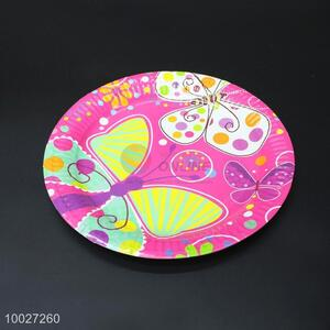 Disposable Birthday Paper Dish/Plate With Butterflies Pattern