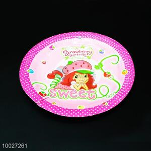 Cute Girl Disposable Birthday Paper Dish/Plate