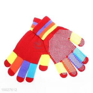 Round Dotted Pattern Women's Knitted Gloves