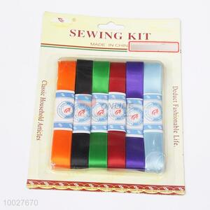 6pcs Coloured Ribbons Set