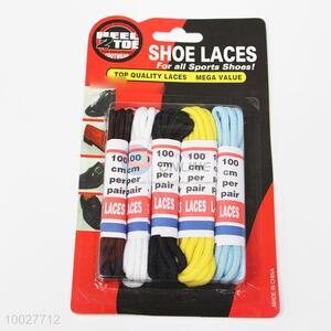 Sports Shoes Nylon Shoelaces Set of 5 Pairs
