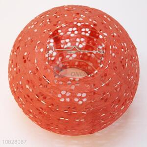 20cm red hollow round paper lantern
