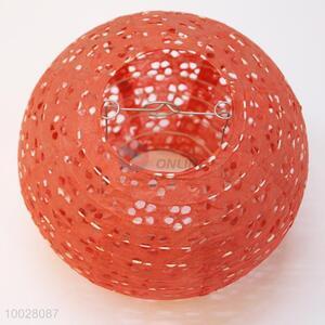 20cm red hollow round paper lantern