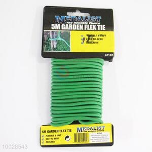 5M Utility Green Garden Flex Tie