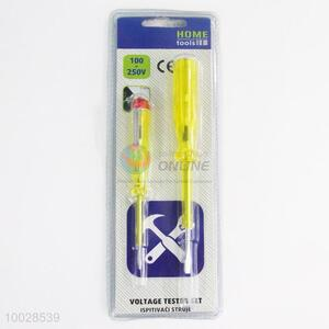 100-250V Electrical Test Pen with Yellow Handle