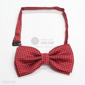 2 pieces 2-layer dot pattern bow tie,handkerchief set