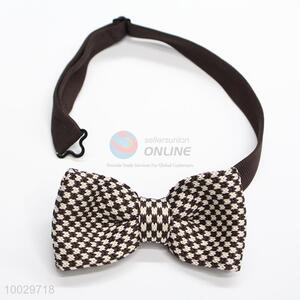 Decorative brown-white bow tie