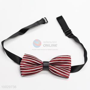 Children red-white strip pattern bow tie